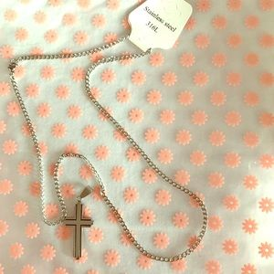 Jewelry - Stainless Steel Cross Necklace